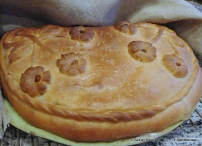 Пирог из теста на горчичном масле